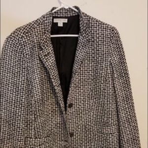 Cold water Creek Large Print Houndstooth Jacket